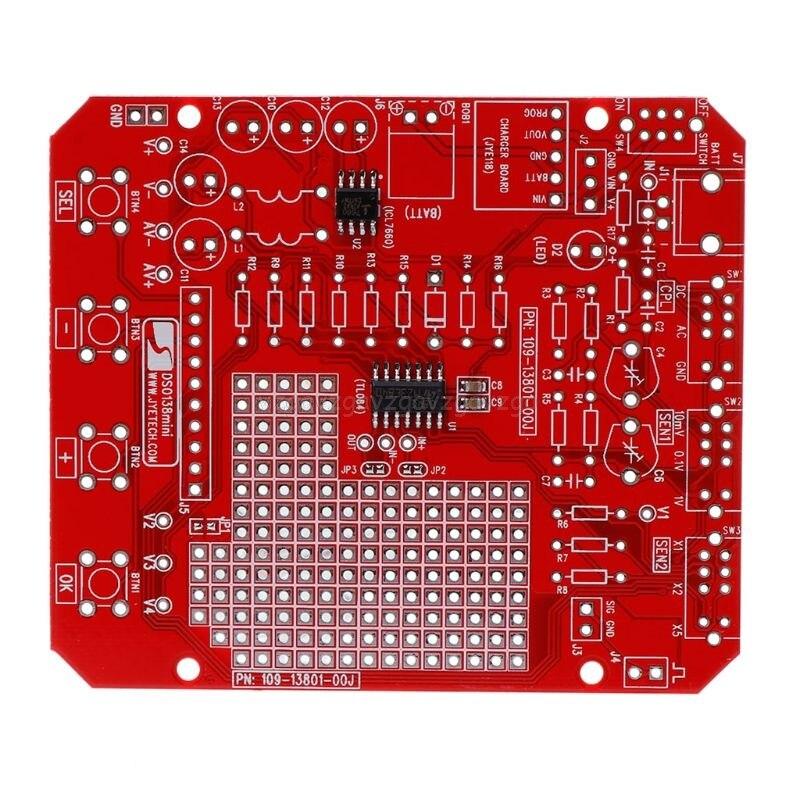 Dso138mini kit de osciloscópio digital, kit de