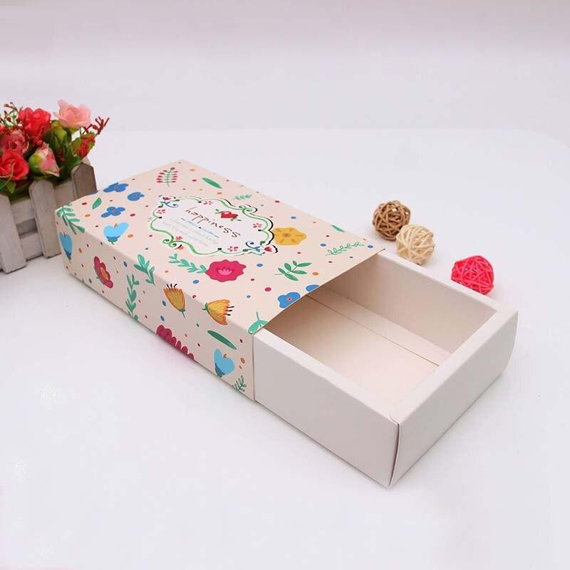 Hurtownie 500 sztuk/partia spersonalizowany karton przesuwne wyciągnąć kartonowe pudełko na prezent szuflady drukowane projekt skarpetki box darmowa wysyłka w Torby na prezenty i przybory do pakowania od Dom i ogród na  Grupa 1
