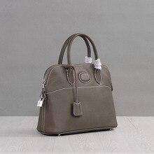 Luxury Hign Quality Genuine Leather Women Shell Messenger Bags Brand Designer Female Shoulder Bag Ladies Handbags Casual Tote
