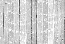 Laeacco Hearts Garland Wooden Board Planks Baby Newborn Photography Backgrounds Custom Photographic Backdrops For Photo Studio