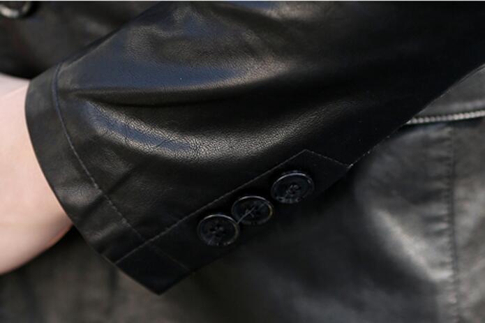 La Primavera Guapo Marea Hombres Personalidad 5xl Negro Pu De Clásica Moda Y M Nueva breasted Delgado Abrigo azul Chaqueta Cielo Caliente 2019 Los Traje YRSqx60