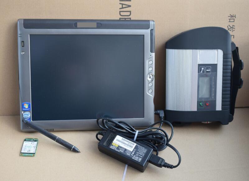 Последние OBD2 сканер мб звезда C4 + 12/2015 SSD программное обеспечение для Benz автомобили грузовик диагностический + LE1700 Tablet PC идеальное работы