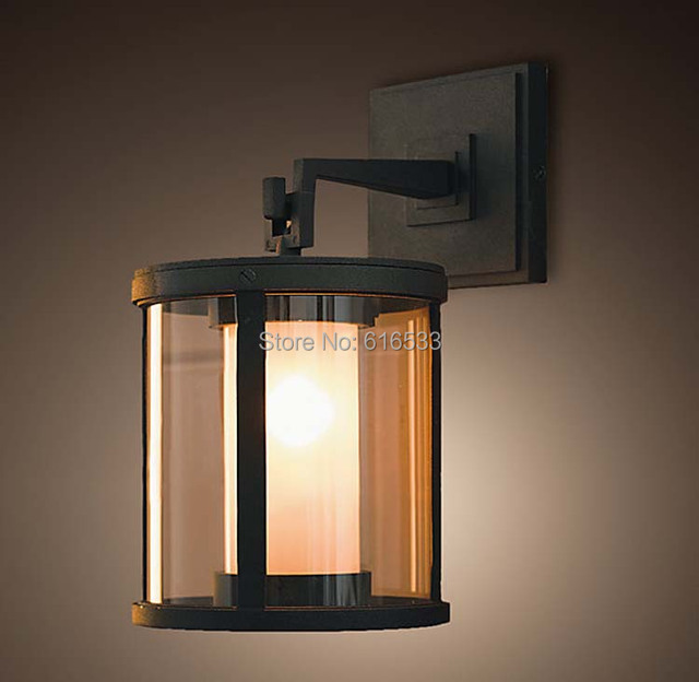 Vintage Loft Industrial Country Edison Glass Wall Sconce Lamp Mirror American Outdoor Waterproof Modern Home Decor Lighting