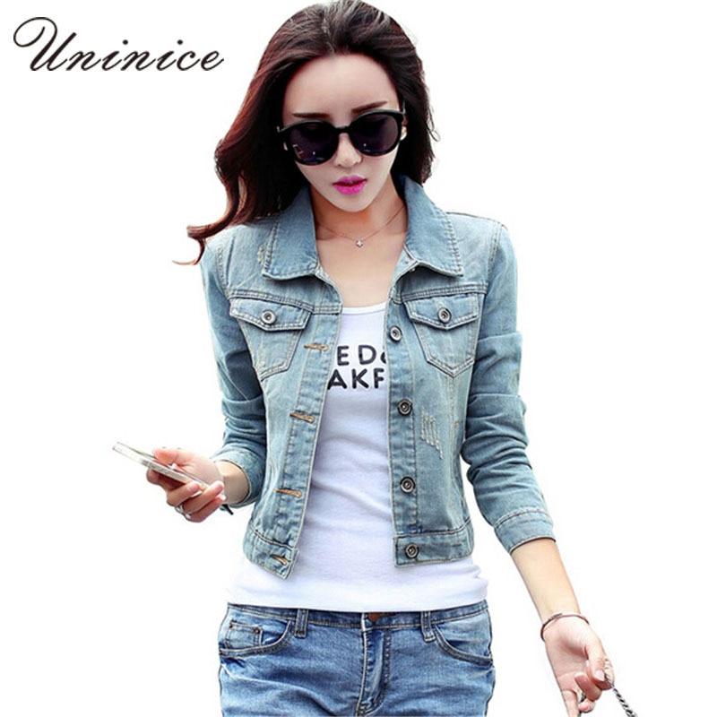Popular Fashion Jean Jackets Women-Buy Cheap Fashion Jean Jackets ...