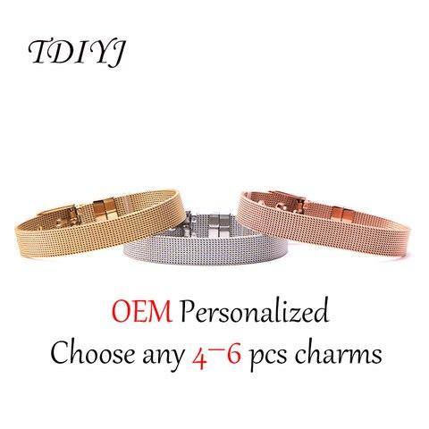Tdiyj новая коллекция Женский браслет из нержавеющей стали diy