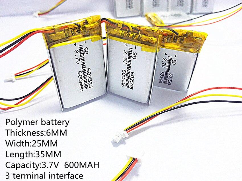 3.7V lithium polymer battery 602535 062535 600mah the video recorder Mio MiVue 388 3 line видеорегистратор mio mivue 518