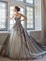 Nuevo Vestido De Boda Romántica de Blanco y Negro Applique Sweetheart Diseño Único vestido de Novia Vestido de Las Novias vestido De Noiva