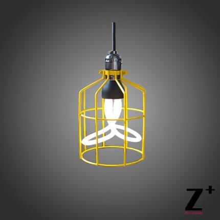 Průmyslové Edison Přívěsek světlo Vintage lampa železná klec tři barvy Doprava zdarma
