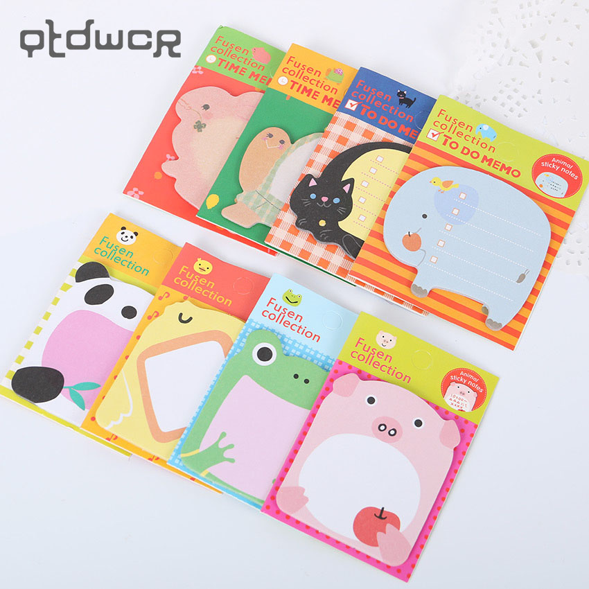 Kawaii Unique Scrapbooking Forest Animal Series Staicker Office Supplies Flags Memo Book Marker Sticky Notes