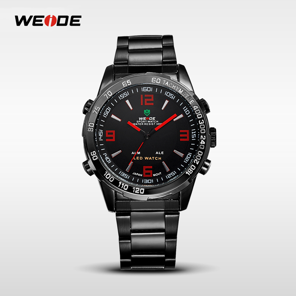 WEIDE Luxury Brand Quartz Display Watch Analog-digital LED Men's Sports Japan Wrist Military 24-hour dispatch WH1009 weide wh 3401 double movt analog digital military quartz watch water resistant for sports