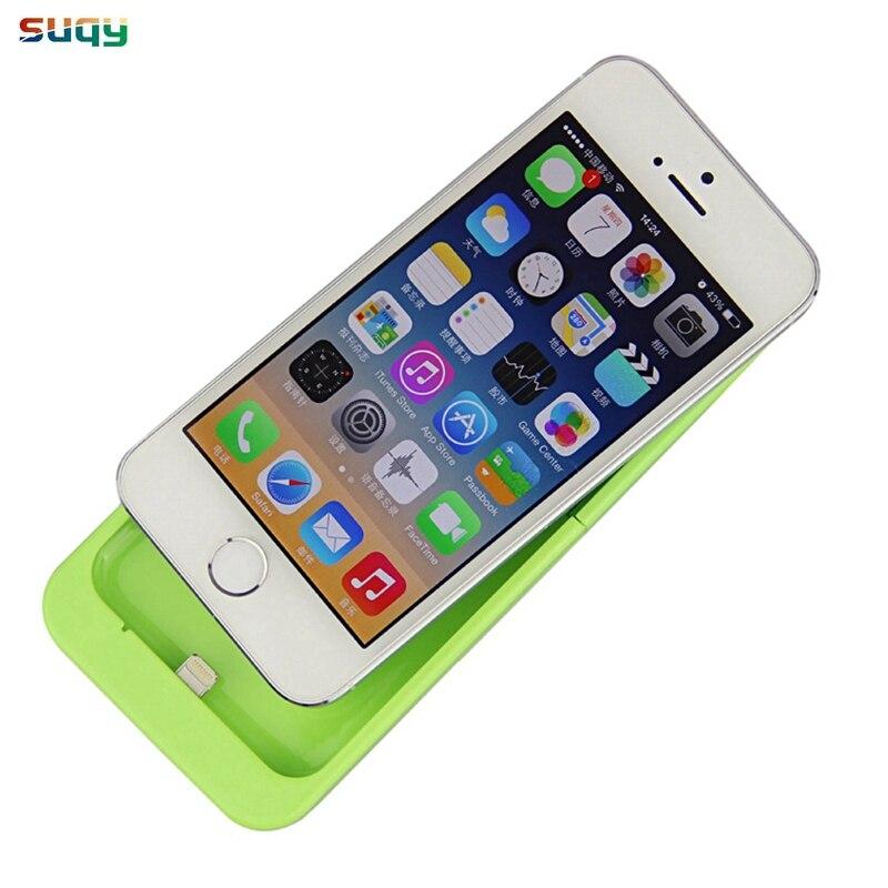 Suqy Smart Batterie Cas pour iphone 5 5g 5S se 2200 mAh accumulateur pour iphone 5 5g 5S se Batterie Cas avec support