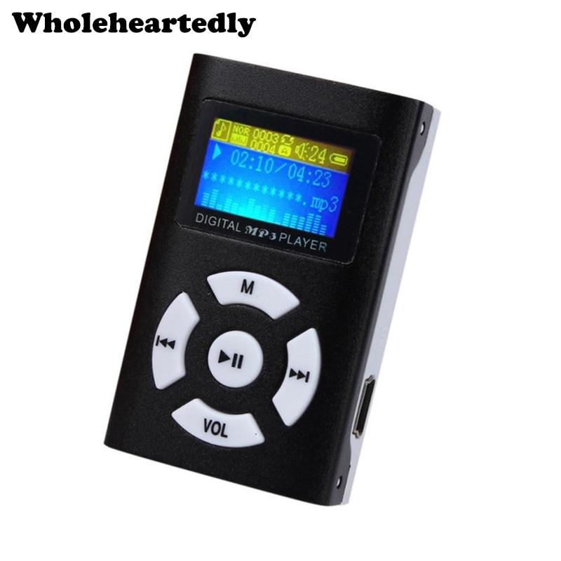 Hot Sale USB Mini MP3 Player LCD Screen Support 32GB Micro SD TF Card Slot Digital Mp3 Music Player Earphone&Mini USB