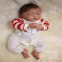 19 inch 49 cm Silicone baby reborn dolls, lifelike doll reborn Cute sleep baby Boys and girls Festival gift