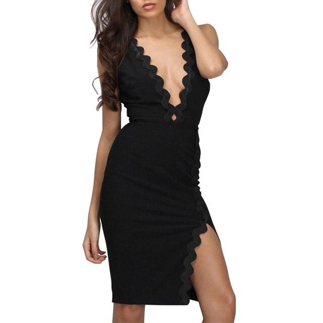 3b2d043e07 2018 Sexy Summer Dress Women Backless Halter Hot Bodycon Dress Deep V Club  Street Sheath Dresses Vestidos