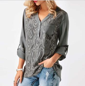 Embroidery Crochet Lace Blouse Women Pastel Goth 2