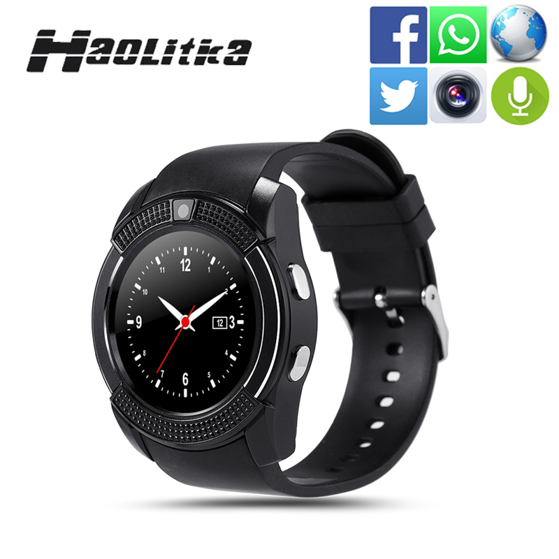 imágenes para Moda bluetooth smart watch sim/tarjeta tf para teléfonos android ios dispositivos portátiles smartwatch mujeres reloj deportivo pk kw18 v8