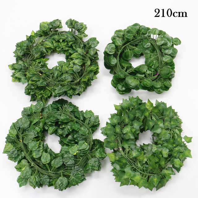 200CM Artificial Plants Creeper Green Leaf Ivy Vine For Home Wedding Decor Wholesale DIY Hanging Garland Artificial Flowers 3