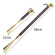 1 Piece New Designer Long Shoe Horns Wooden Flexible Shoehorn Women Men Spoon Shoes Lifter 32cm 49cm 58cm