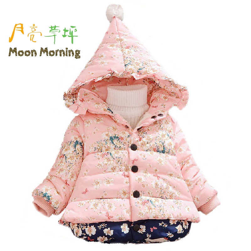 Moon Morning Kids Parkas 6M 3T Print Zipper Fly Pattern Children Jacket Woven Fashion Winter Christmas