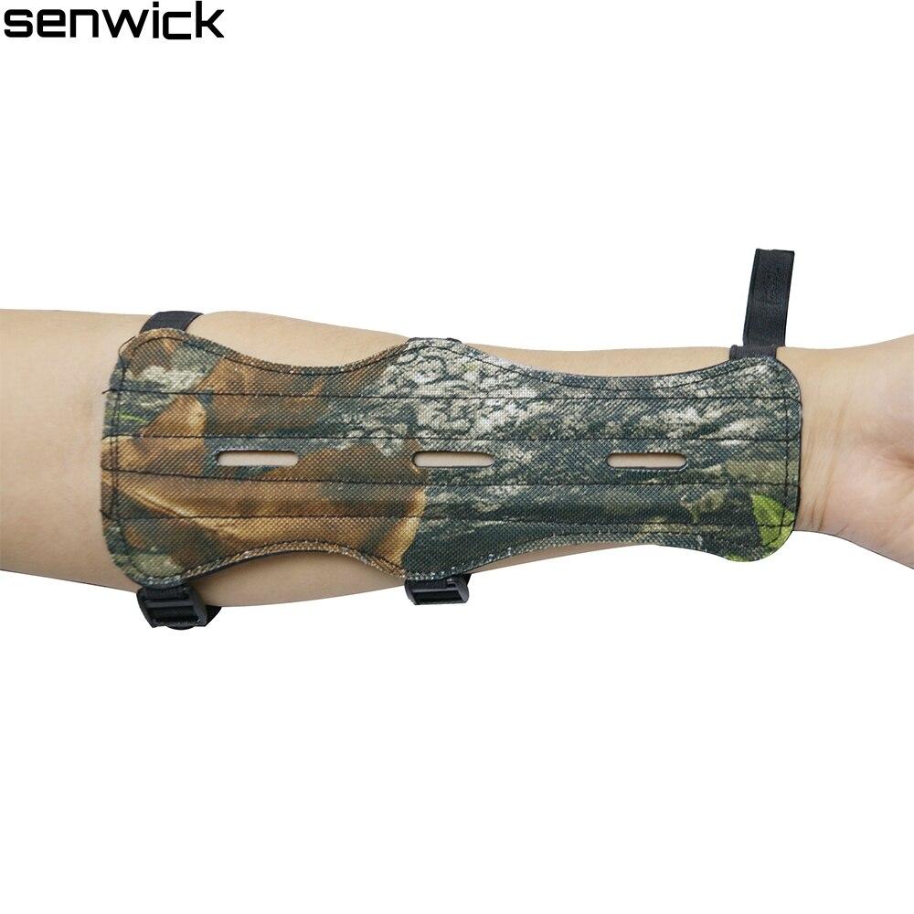 Új Camo állítható fekete íjászat kar őr védelem biztonságos őr 3 szíj bőr lövés ingyenes szállítás