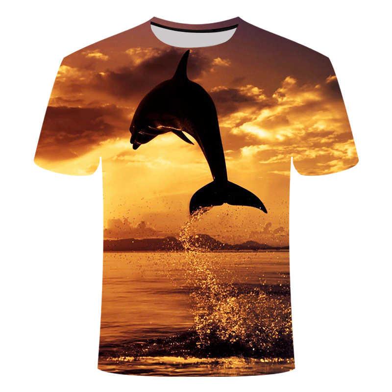 Летняя одежда для пляжа, отдыха, тропического леса, футболка для мужчин и женщин, тренд, короткий рукав, Гавайские острова, большой размер 6XL, 3d принт