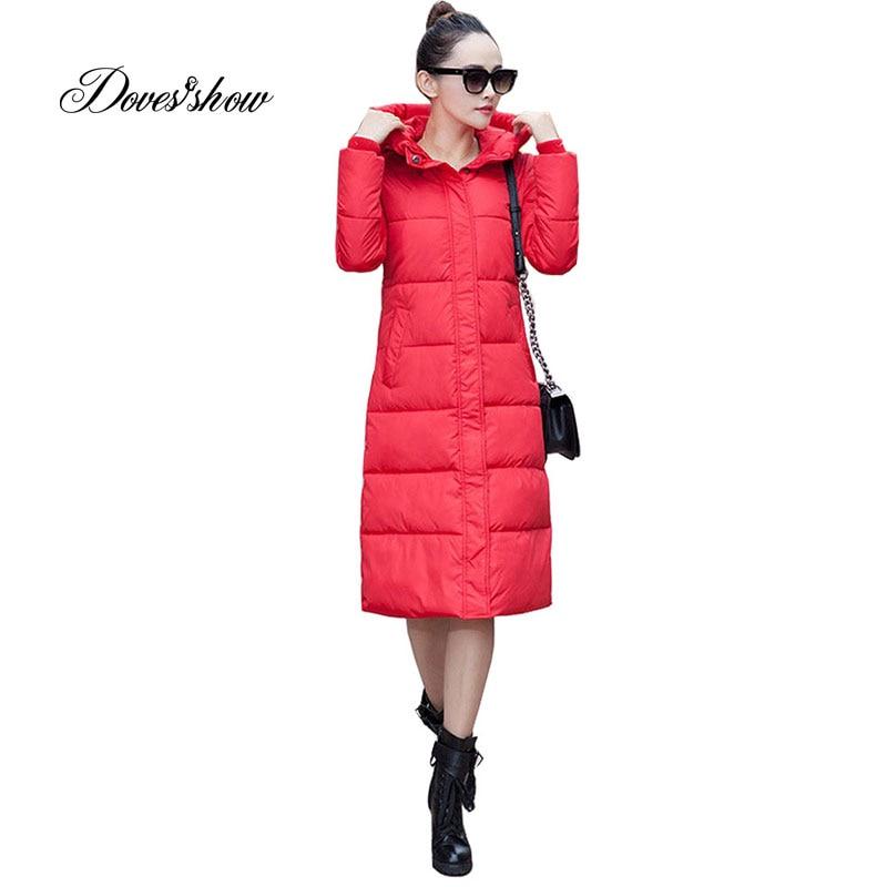 Women Hooded Cotton-Padded Jacket Winter Long Jacket Plus Size Slim Women Basic   Coats   Jaqueta Feminina Inverno Casaco Feminino