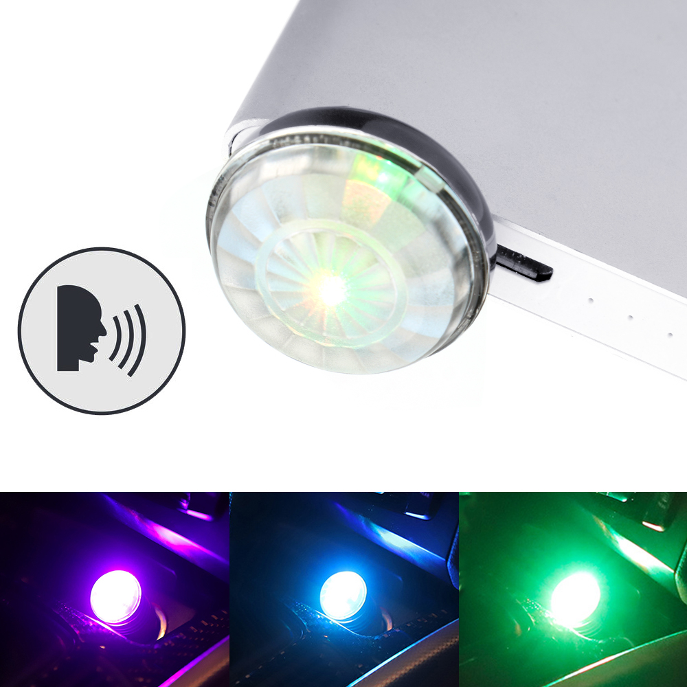LEEPEE USB Magic Stage Effect Light Universal DJ RGB Lamp Decorative Lamp Voice Control Car LED Atmosphere Light Mini