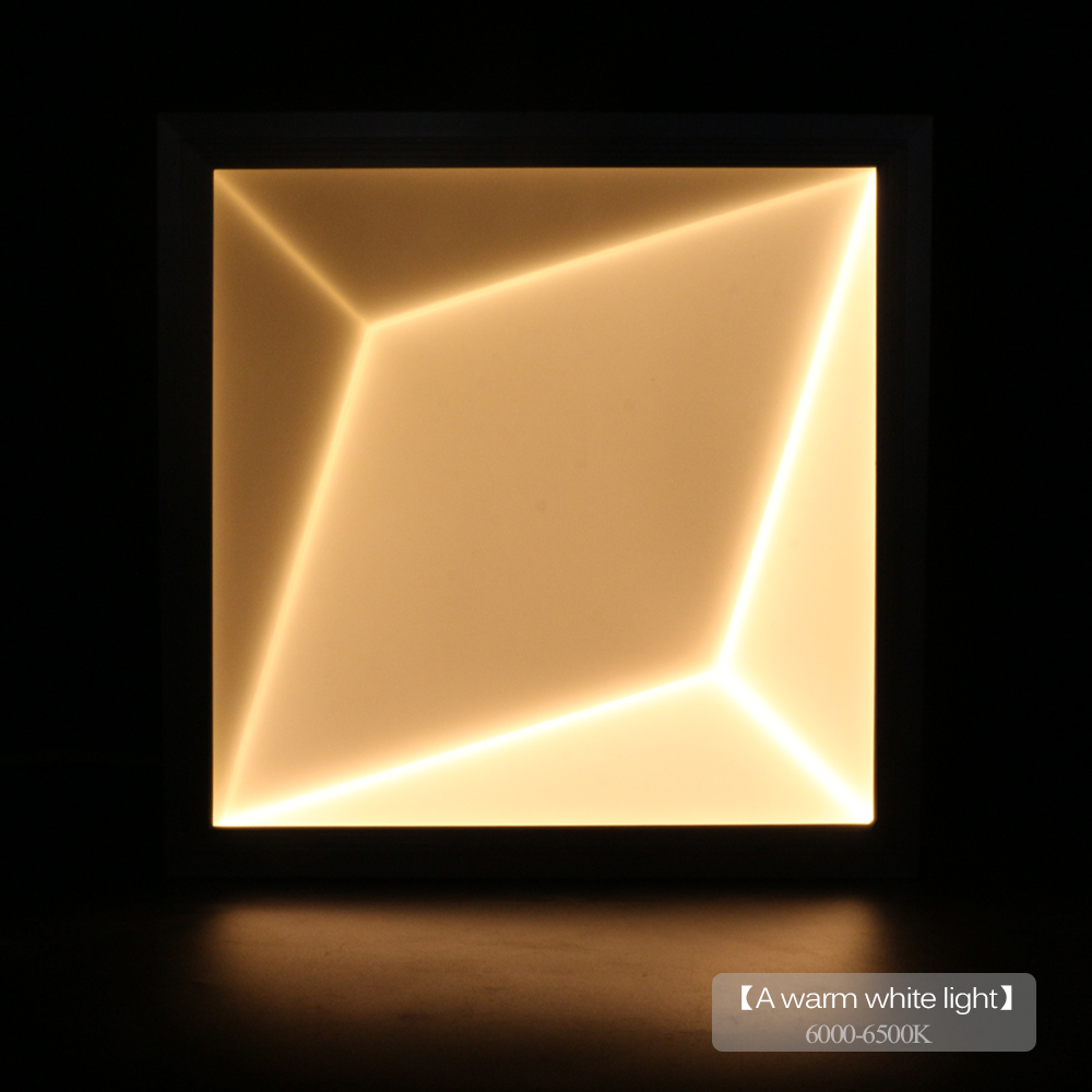 18W Ultra Thin Square LED Ceiling Panel Light AC90-260V 3D Effect LED Panel Light White/Warm White SMD2835 Panel For Livingroom led panel 300mm 300mm 18w edge lit super bright ultra thin glare free