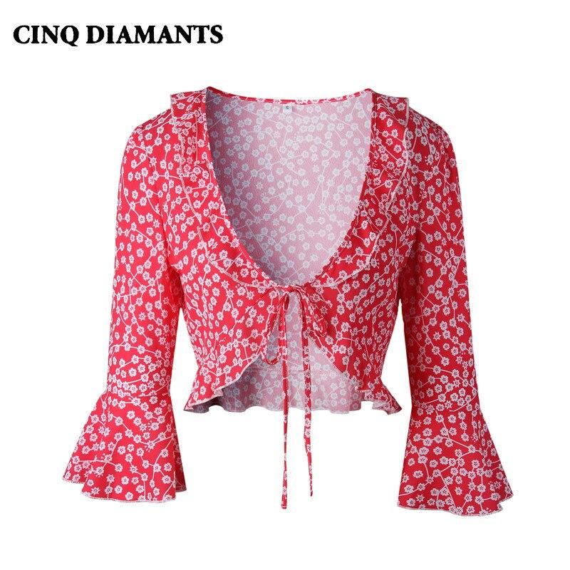 CINQ DIAMANTS Boho Tank Tops Women Summer Elegant Top Vest Female Clothing Streetwear Trendy Red Black Tees Camis