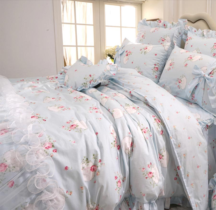 Girls blue bedding - Girls Bedding Set Blue