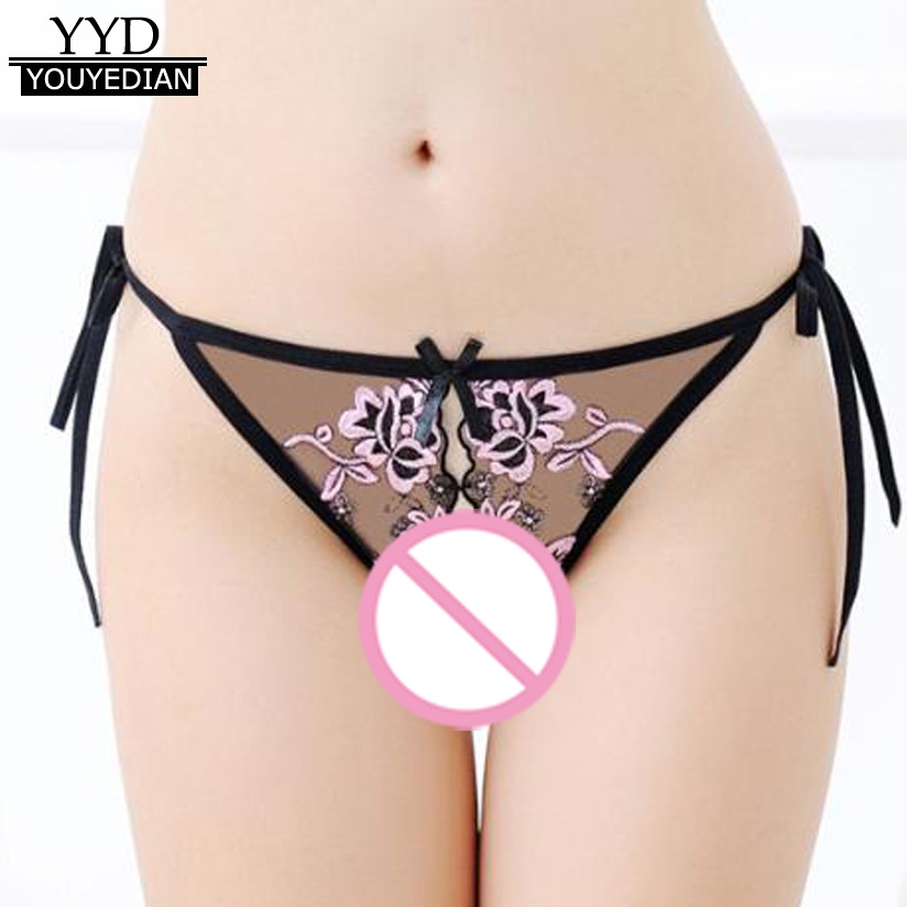 Women new fashion thongs and g string sexy transparent underwear lace briefs panties hollow tangas women lingerie sexy *1206