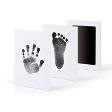 Baby Care Non-Toxic Baby Handprint Footprint Imprint Kit Baby Souvenirs Casting Newborn Footprint Ink Pad Infant Clay Toy Gifts(China)