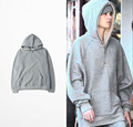 2016 Justin Bieber Fashion Hoodies Zipper Design Sweatshirts Men Hip Hop Streetwear Sudaderas Hombre Oversized Clothing