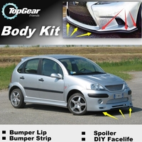 Bumper Lip Deflector Lips For Citroen C3 / C3 Picasso Front Spoiler Skirt For TopGear Fans Car Tuning View / Body Kit / Strip