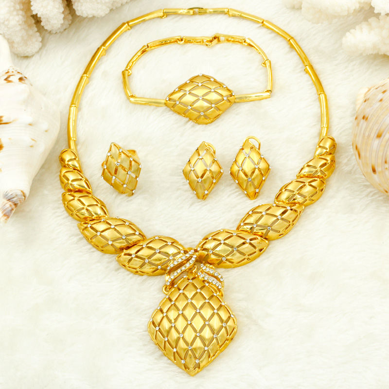 Liffly Dubai Women Jewelry Accessories Crystal Necklace Earrings Fashion Jewelry High Quality Italian Bridal Jewelry SetsLiffly Dubai Women Jewelry Accessories Crystal Necklace Earrings Fashion Jewelry High Quality Italian Bridal Jewelry Sets