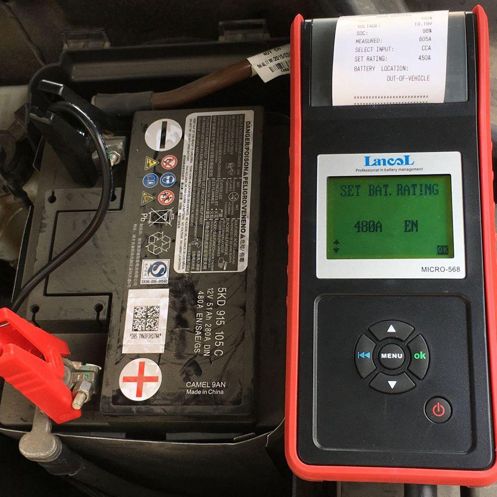 MICRO 568 Outil De Diagnostic Testeur de Batterie dans Batterie Testeurs de Automobiles et Motos