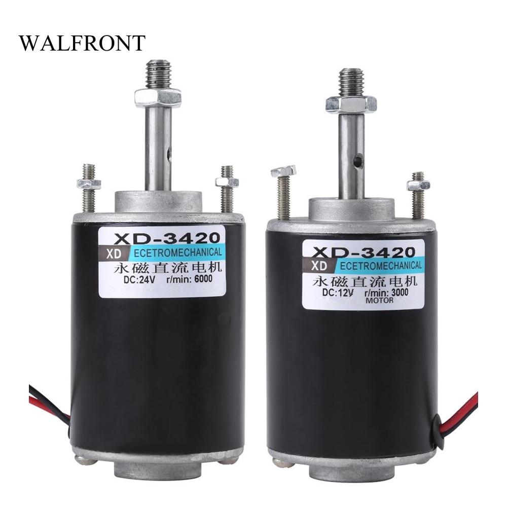 Walfront permanent magnet dc motor 12v 24v high speed for 6000 rpm ac motor