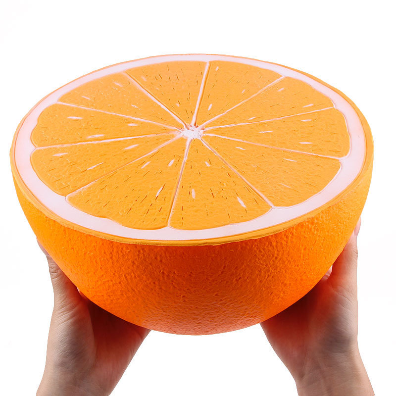 Whloesale Large Orange Jumbo Squishy Slow Rising Toy  Big Size Cartoon Toys Kids Fun Soft Toy 25CM+ Pineapple Squeeze Toys 11CM