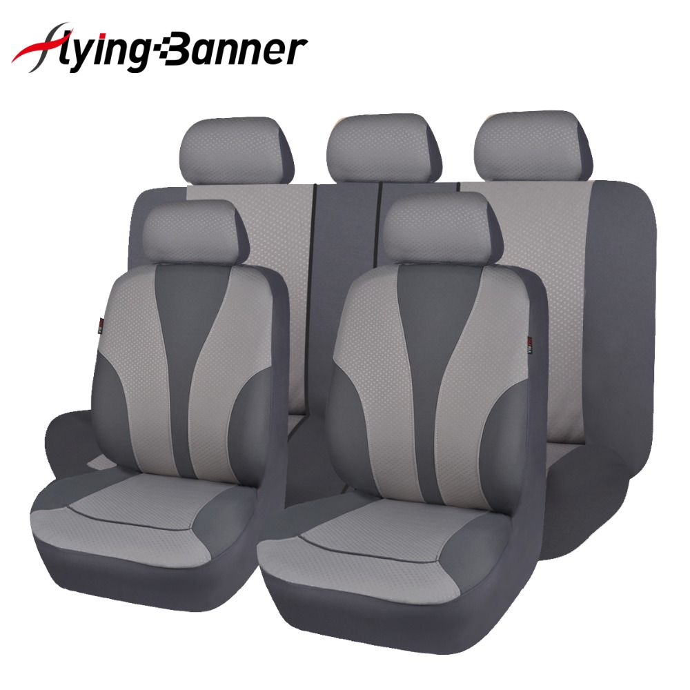 Black grey beige color full car seat cover universal fit - Car seat covers for tan interior ...