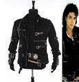 RARE HOT MJ MICHAEL JACKSON MEN'S JACKET PUNK BAD BLACK JACKET FASHION COOL PERFORMANCE CASUAL GIFT