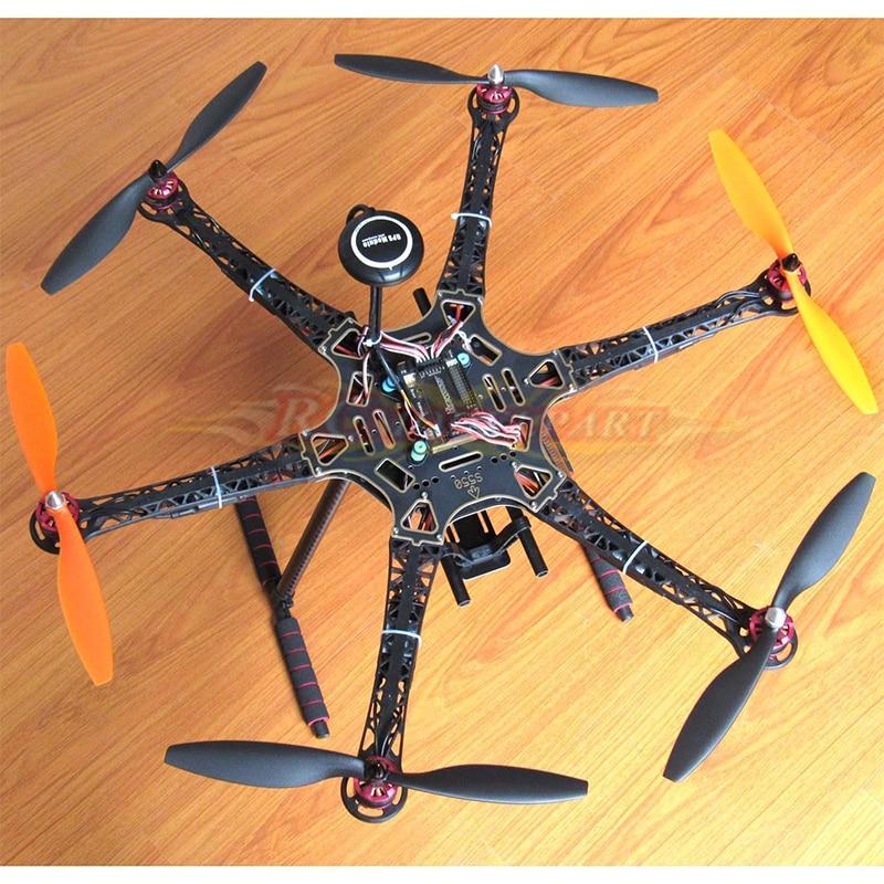 DIY S550 Hexacopter APM2.8 FC NEO-7M GPS HP2212 920KV BL Motor Simonk 30A ESC apm 2 8 flight control neo 7m neo m8n gps holder kit for diy fpv drone quadcopter hexacopter