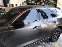 Para Mazda CX-5 2017 2018 CX5 Acero Inoxidable Travesaño de la Ventana Superior Recorta 6 unids Car Styling Accesorios!