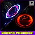 Bi xenón lente Del Proyector de luz con lámpara de xenón de la Motocicleta, ojos de demonio, angel eyes CCFL para H1 H3 H7 H11 9004 9006 kit ocultado