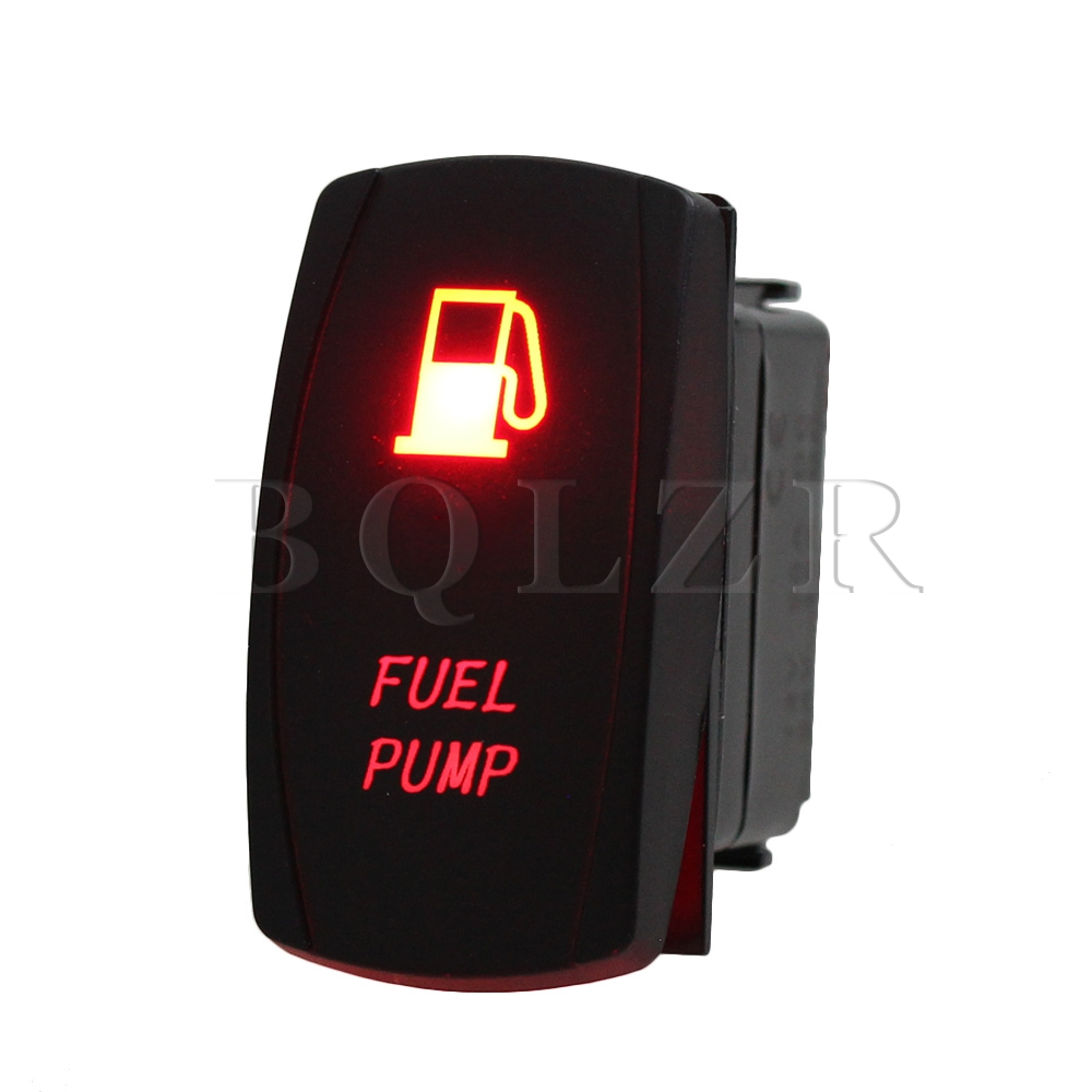 BQLZR DC 12V-24V Waterproof Rocker Switch ON-OFF Illuminated Red Pattern Signal on the open shanghai wing star ship switch kcd6 21n f ip65 waterproof switch 6a 4 foot red 220v