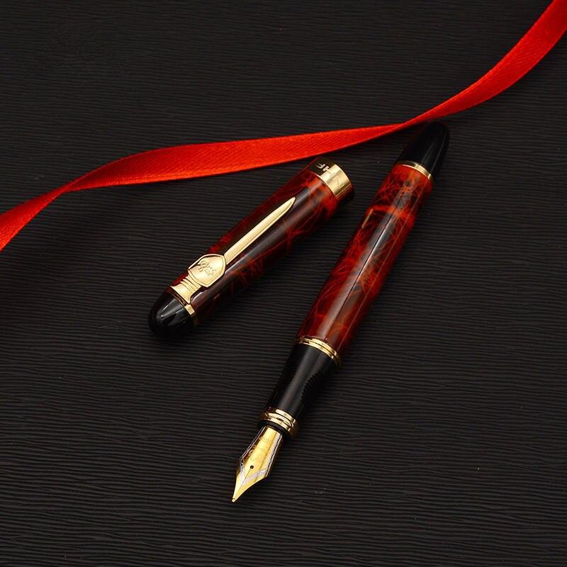 Escudo y espada pluma fuente Iraurita chapado en oro de metal de lujo plumas 0,5mm X450A papelería oficina escuela suministros A6167