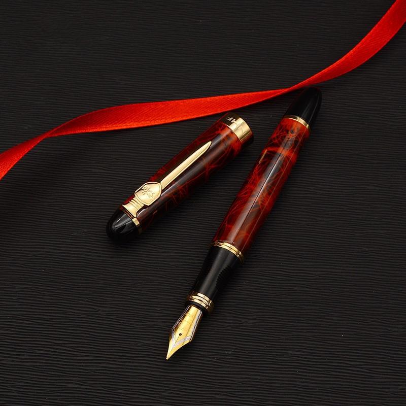 Espada y escudo pluma iraurita de oro plateado cuerpo de lujo plumas 0.5mm X450A escritorio A6167