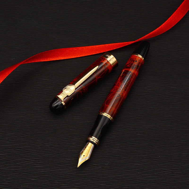 Sword Shield Fountain pen Iraurita Golden plated metal body Luxury pens 0 5mm X450A Stationery Office