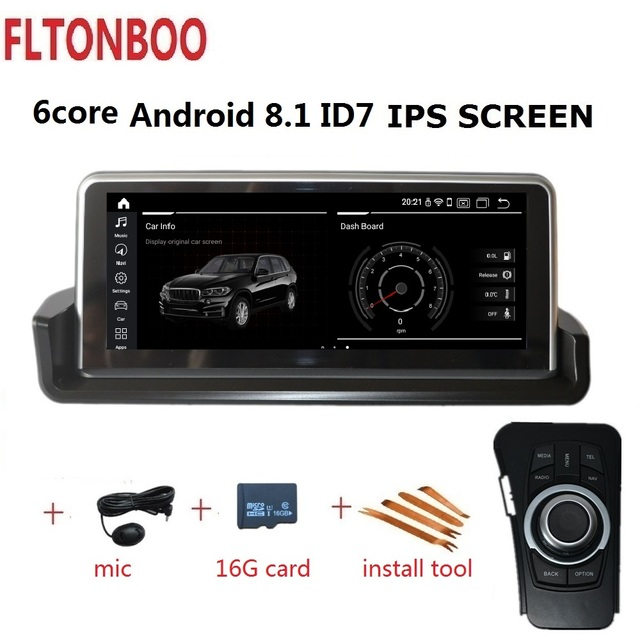 10.25''Android 8.1 car GPS radio player navigation ID7 for BMW E90 E91 E92 E93 3 series 6 core IPS wifi BT 2GB RAM 32GB ROM