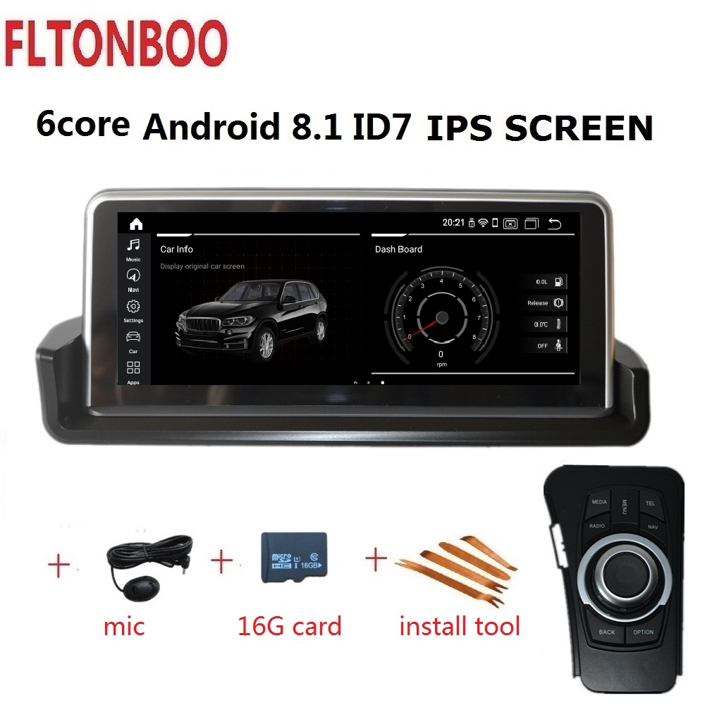 10.25 ''Android 8.1 do GPS do carro jogador de rádio navegação ID7 para BMW E90 E91 E92 E93 3 series 6 IPS núcleo wifi BT 32 2 GB de RAM GB ROM