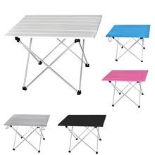 Table Portable pliable en alliage Al, bureau de randonnée, lit d'ordinateur de voyage, pique-nique en plein air, ultraléger
